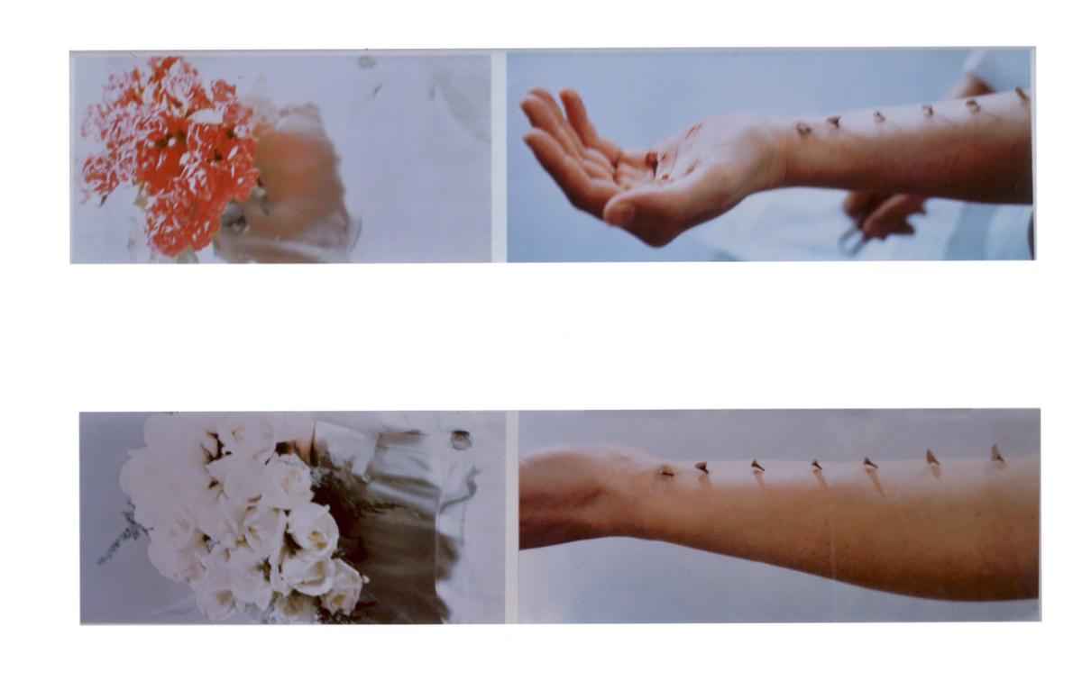 """""""Azione sentimentale"""", 4 foto cm 20x91,5 cad.,1973."""